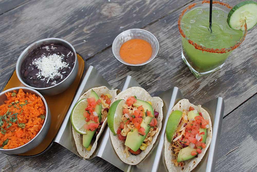 Maya Entree Tacos and Margarita